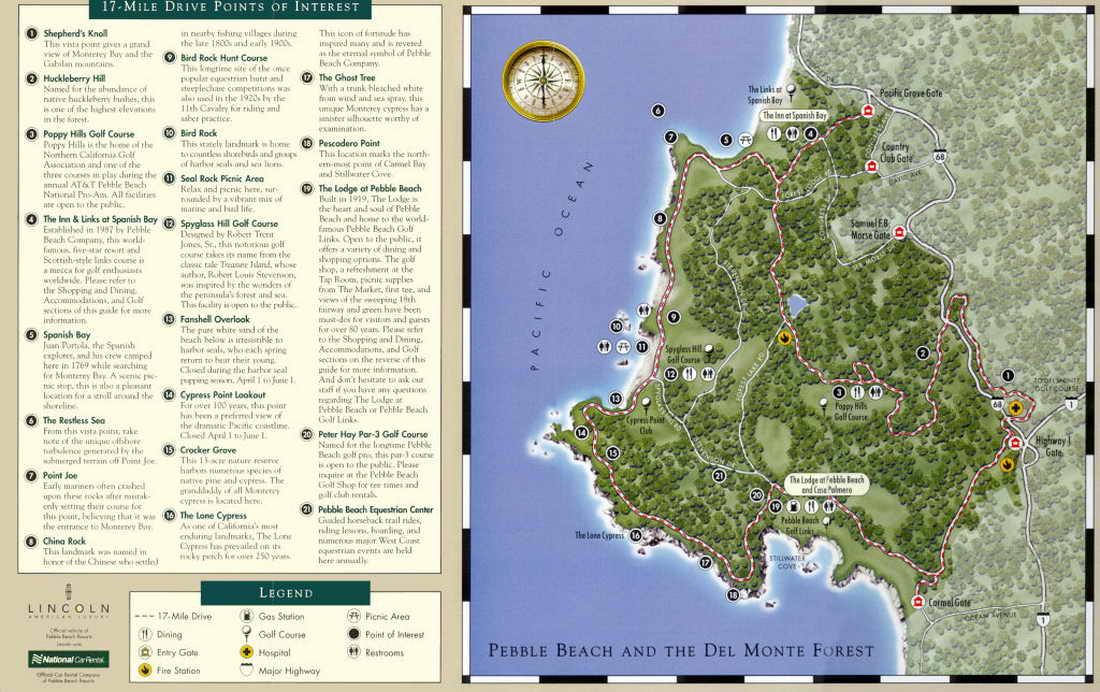 17 Mile Drive Map Pdf